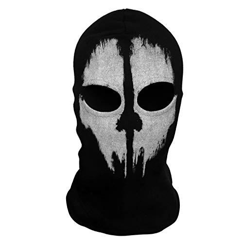 VAVIS TOVEY Ghost Mask Call of Duty 10 Ghost Skateboard Hood Halloween Face Skull Mask for Cosplay Black]()