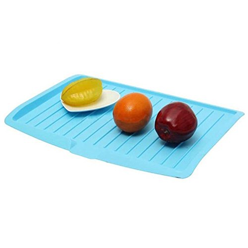 SODIAL Kitchen Plastic Dish Drainer Tray Large Sink Drying R