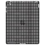 Amzer Luxe Argyle High Gloss TPU Soft Gel Skin Case Cover for Apple iPad 3 - The ipad 3rd Gen - Clear