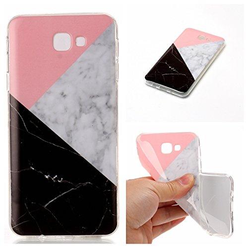 SRY-Funda móvil Samsung Para Samsung Galaxy J7 Cubierta de primera calidad Imitación de mármol Textura Cubierta suave ( Color : E ) M