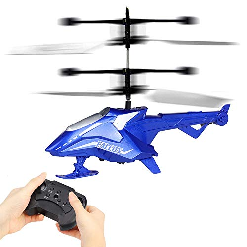 2019HoHo CX118 Helicopter with Remote Control RC Drone Gyro Helicopter for Kids Adults (Blue) (Blue Thunder Rc Helicopter)