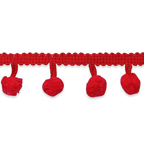 0.75' Pom Poms (3/4in Pom Fringe Trim Red)
