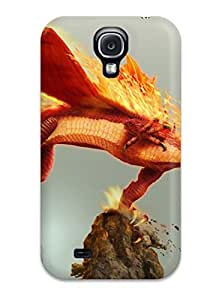Excellent Galaxy S4 Case Tpu Cover Back Skin Protector Fire Dragon