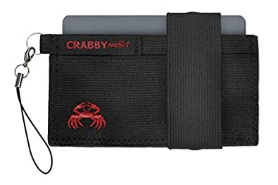 Crabby Wallet - Black - Thin Minimalist Front Pocket Wallet