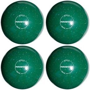 EPCO-Duckpin-Bowling-Ball-Speckled-Houseball-Green-4-Balls
