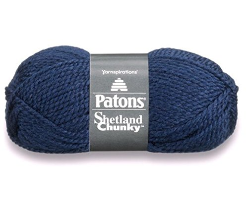 Patons Shetland Chunky Tweed Yarn ( 3 Pack) Bulky Acrylic Wool Blend ( Medium Blue)