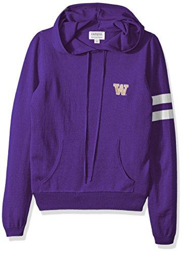 NCAA Washington Huskies Women's Campus Specialties Hooded Sweater, Purple, Medium