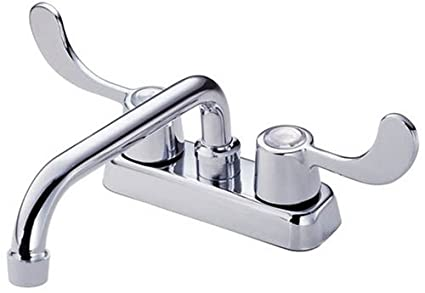 Danze D100353 Melrose Laundry Faucet with Two Wristblade Handles, 8 ...