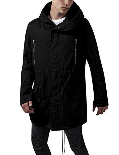 Chaqueta Sherpa Black Lined Classics para Urban Hombre Biker Parka Negro R4XUvqH