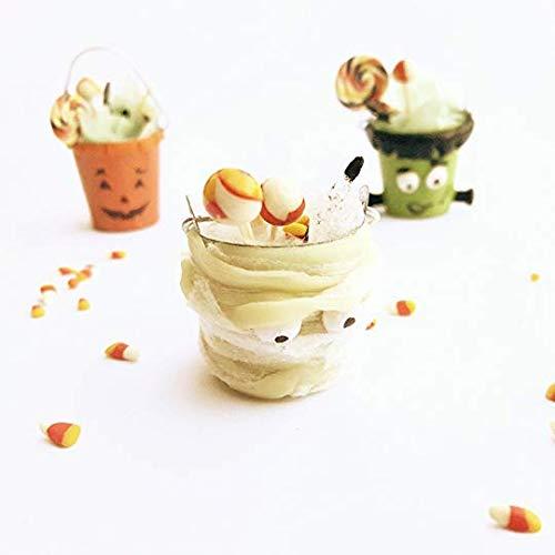 Dollhouse miniature Halloween treats bucket