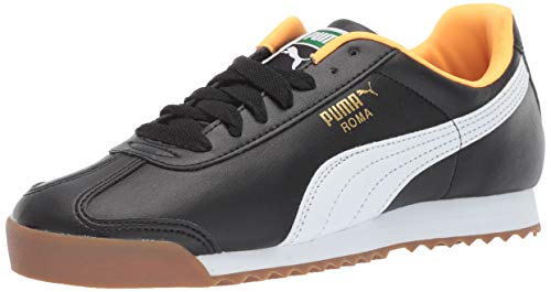 (PUMA Men's Roma Basic Sneaker Black/Orange po, 10.5 M US )