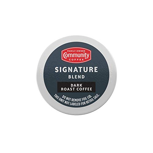 Community Coffee Signature Blend Coffee Pods, Dark Roast, Compatible with Keurig 2.0 K-Cup Brewers, 36 Count