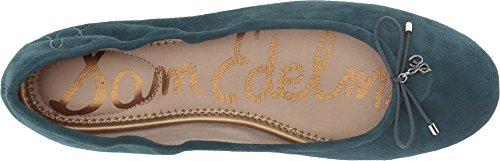 Ballet Women's Blue Felicia Leather Sam Kid Petrol Flats Suede Edelman 64txtqwS