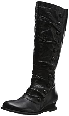 Miz Mooz Women's Bloom Engineer Boot, Black, 6 M US