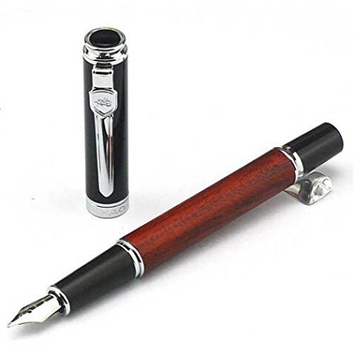 Ularma Jinhao 8812 Kalligraphie Füller Holz Fass-Vintage-Stil Füllfederhalter 0,5mm Feder Pen