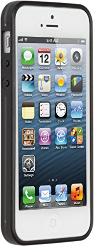 PureGear Slim Shell Case for iPhone 5C - Retail Packaging - Clear/Black/Licorice Jelly (Pure Gear Slim Shell Iphone 5c)