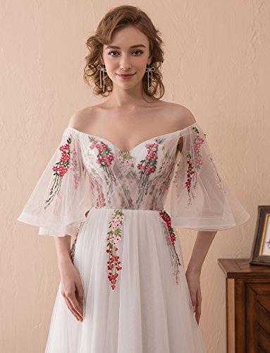 V Stickerei Erosebridal Ausschnitt Prinzessin Formeller Abendkleid Spitze mit Ballkleid Applikationen Tüll EE6PwOqx