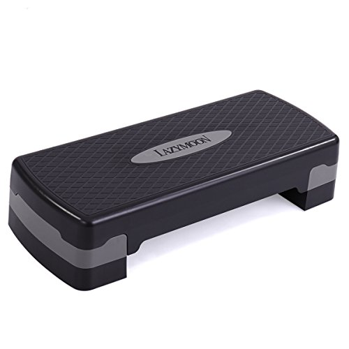 LAZYMOON 27'' Fitness Aerobic Stepper Height Adjustable Exercise Step Riser Trainer by LAZYMOON