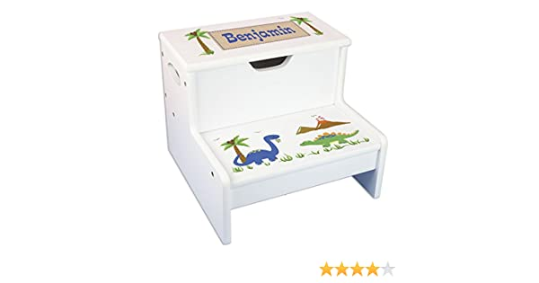 Pleasing Personalized Dinosaur Storage Step Stool Pdpeps Interior Chair Design Pdpepsorg