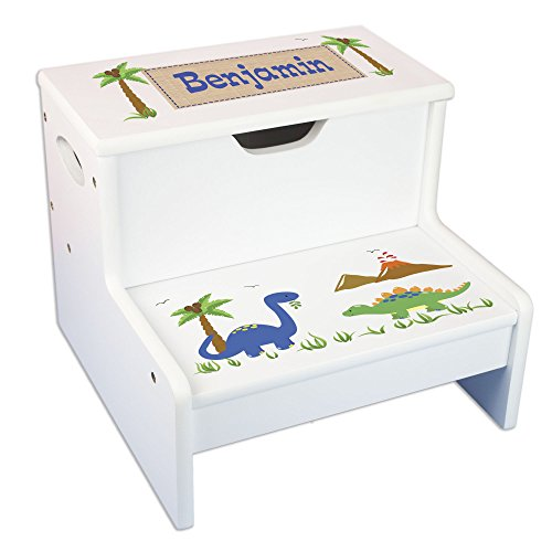 - Personalized Dinosaur Storage Step Stool