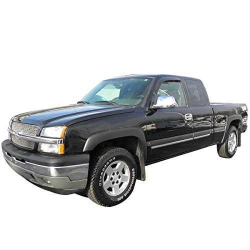 Fender Flares Fits 1999 2006 Chevy Silverado Oe Style Black Polypropylene Pp Front Rear Right Left Wheel Cover Protector Vent Trim By Ikon