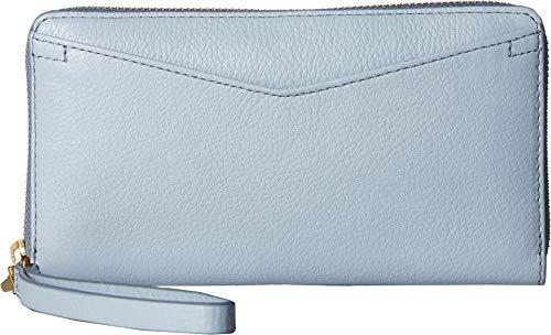 Womens Wallet Blue (Fossil Caroline RFID Zip Around Wallet Horizon Blue)