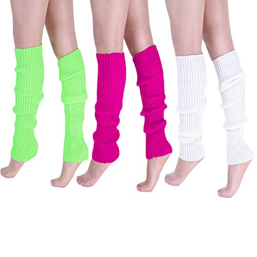 BAOBAO Candy Colors Womens Winter Leg Warmers Knitted