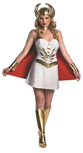 She-ra Halloween Costume For Adults (Disguise Inc - Masters Of The Universe - She-Ra Adult Costume, Large (12-14),White / Red / Gold)