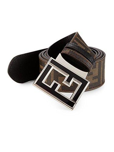 Fendi Zucca College Reversible Belt Logo Brown New - Fendi Logo Buckle Belt