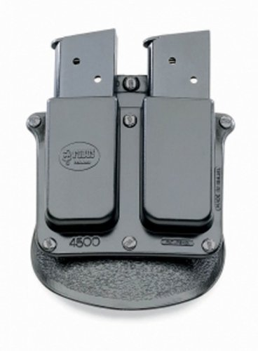 Fobus Roto Paddle 4500RP Double Mag Pouch Single Stack .45 ()