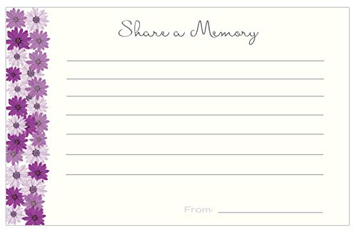 30 Share a Memory Cards for Celebration of Life Funeral Sympathy Memorial Acknowledgment or Birthday ()