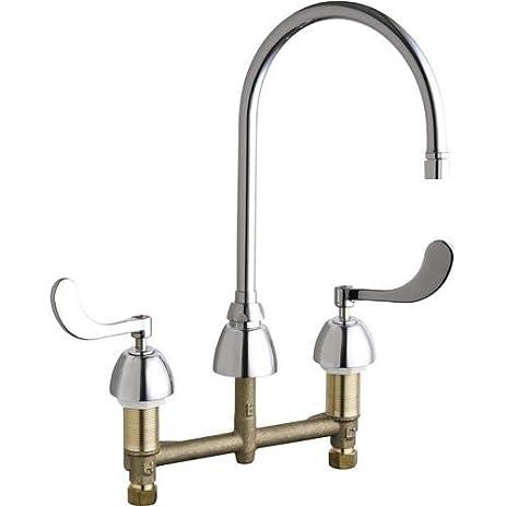 Chicago Faucet GAEAB Widespread Bathroom Faucet Amazoncom - Bathroom fixtures chicago