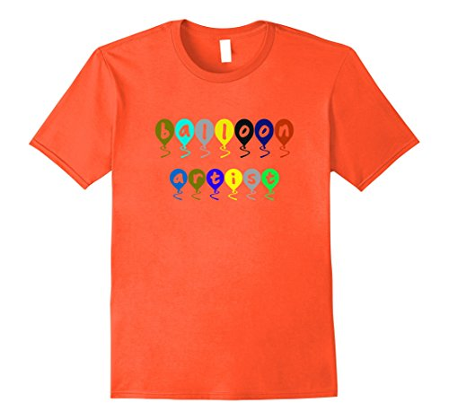 Twister Costume Men (Mens Balloon Artist T-shirt Clown Costume Medium Orange)