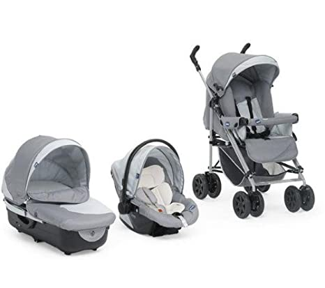 Chicco 4079142050200 Enjoy Fun- Carrito convertible (3 posiciones), color gris: Amazon.es: Bebé