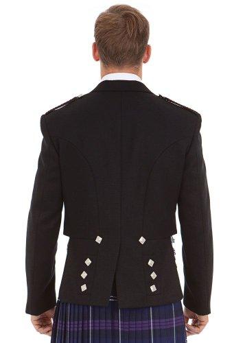 Kilt Society Mens Scottish Black Prince Charlie Kilt Jacket & Vest 52 Regular by Kilt Society (Image #5)