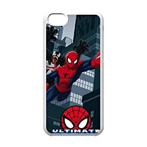 iPhone 5c Cell Phone Case White Ultimate Spider Man Gets Attacked SUX_174677