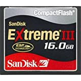 SanDisk SDCFX3-016G-A31 16 GB Extreme III CompactFlash Card (Retail Package)