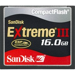 SanDisk SDCFX3-016G-A31 16 GB Extreme III CompactFlash Card (Retail Package) by SanDisk