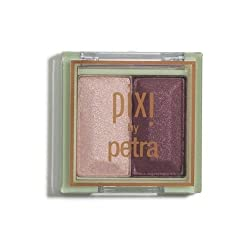 PIXI BY PETRA Mesmerizing Mineral Eyeshadow Duo in Orchid Ornament (Peach Champagne + Shimmering Plum)