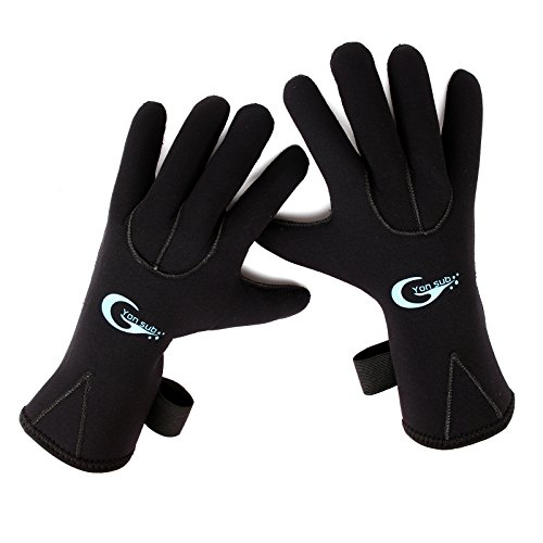 3mm Neoprene Unisex Adults Kids Swimming Diving Surfing Warm Waterproof Five Finger Gloves Wetsuit XXXS-XL - Wetsuit Xl
