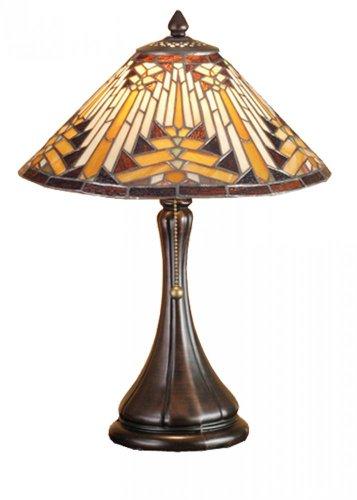 Meyda Tiffany 66225 Nuevo Mission Accent Lamp, 18″ H For Sale