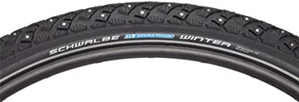 NEW Schwalbe Marathon Tire 27x1-1//4 Wire Bead Black with Reflective Sidewall and