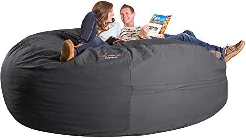 Xorbee 8-Foot Foam-Filled Bean Bag Chair