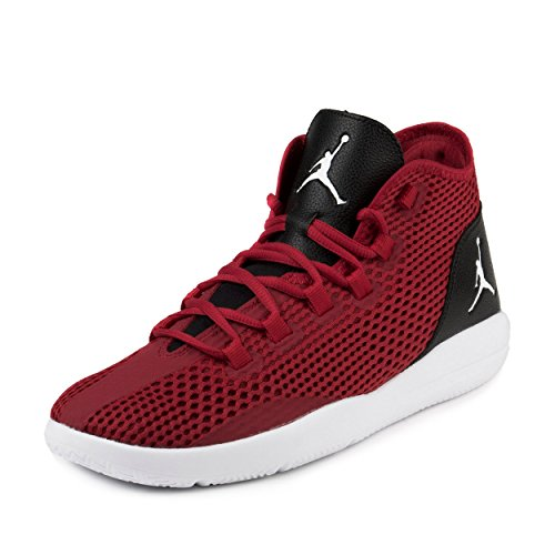 NIKE Jordan Men's Reveal Basketball Shoes (12 D(M) US, Gym Red/White-Black)