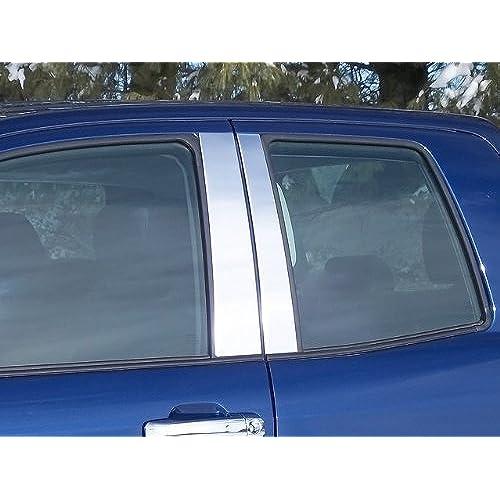 QAA FITS SEQUOIA 2008-2018 TOYOTA (4 Pc: Stainless Steel Pillar Post Trim Kit, 4-door, SUV) PP27145