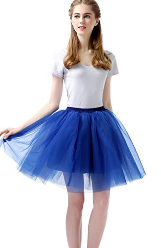 Sheicon Women Lace Ballet Tutu Princess Dress Dance Skirt For Adult (Onesize, Royal (Poofy Princess Dress)
