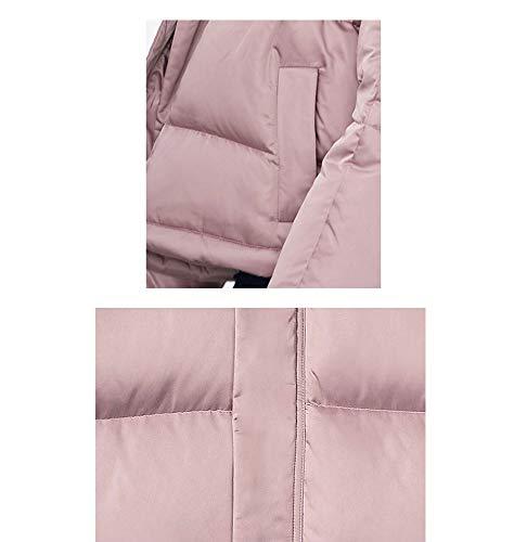 Lqyrf Piumino Staccabile Winter Selvaggio Raso Collo Ladies Collare Cappello Corto Pink rrzBaq
