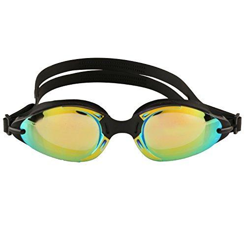 Hydrodynamisch - angenehmes Tragen - Schwimmbrille mit kostenloser Schutzhülle, Ohrenstöpsel und Nasenklammer - dicht - bruchsicher - Feuchtigkeitsregulierung - farbige Gläser - leicht einstellbarer Kopfriemen aus hochwertigem Silikon - auswechselbarer Nasenbügel - Stil und Passform.