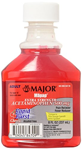 Mapap Adult Rapid Burst Cherry Extra Strength Acetaminophen