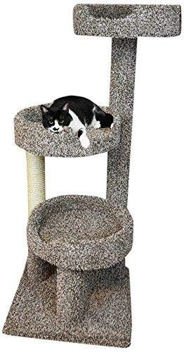New Cat Condos 110091-Speckled Cat Tree with Sisal Rope, Scratching Post and Beds, Large